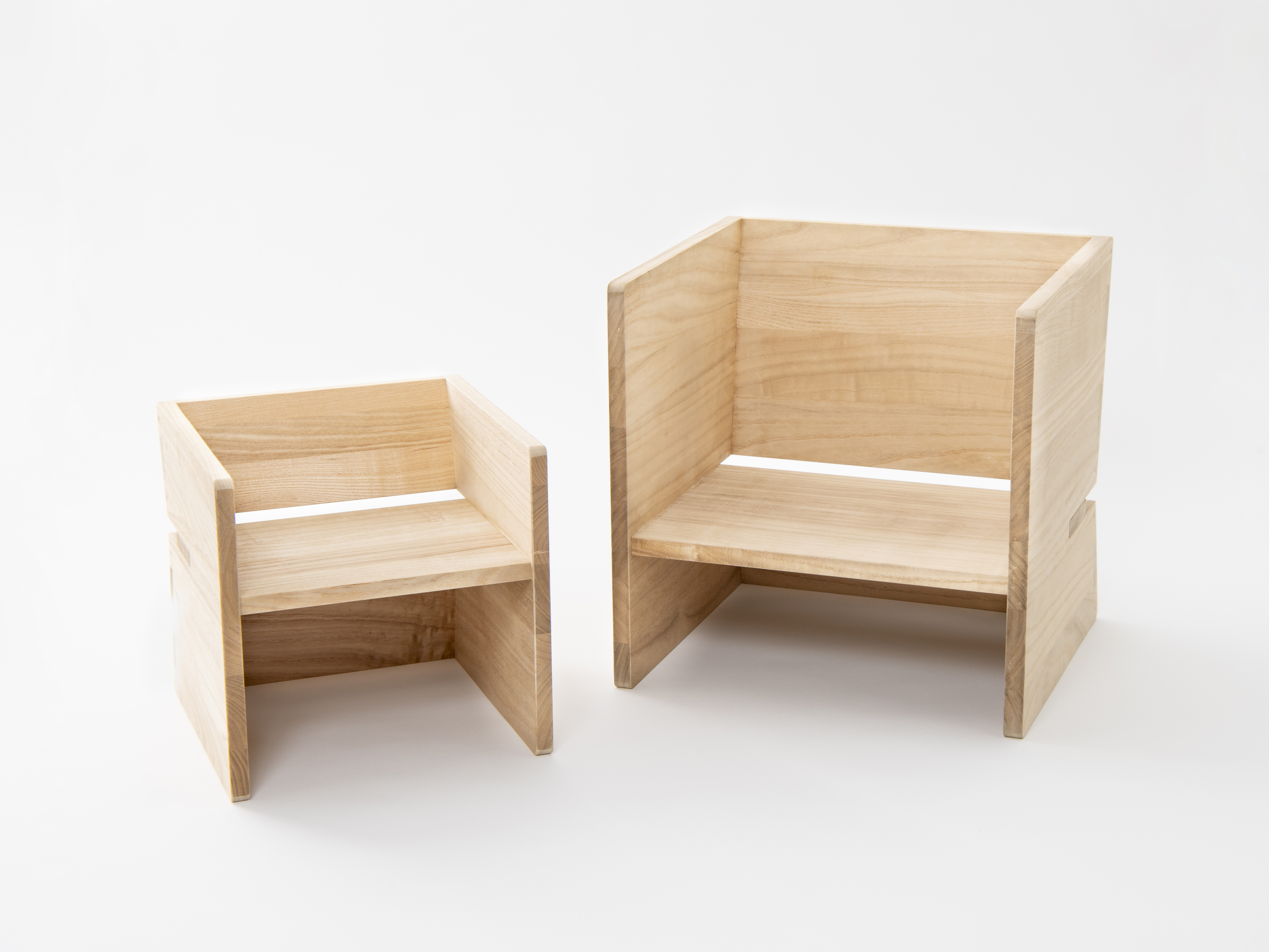桐の子供椅子 CHOCON/桐の椅子 CHOICE画像