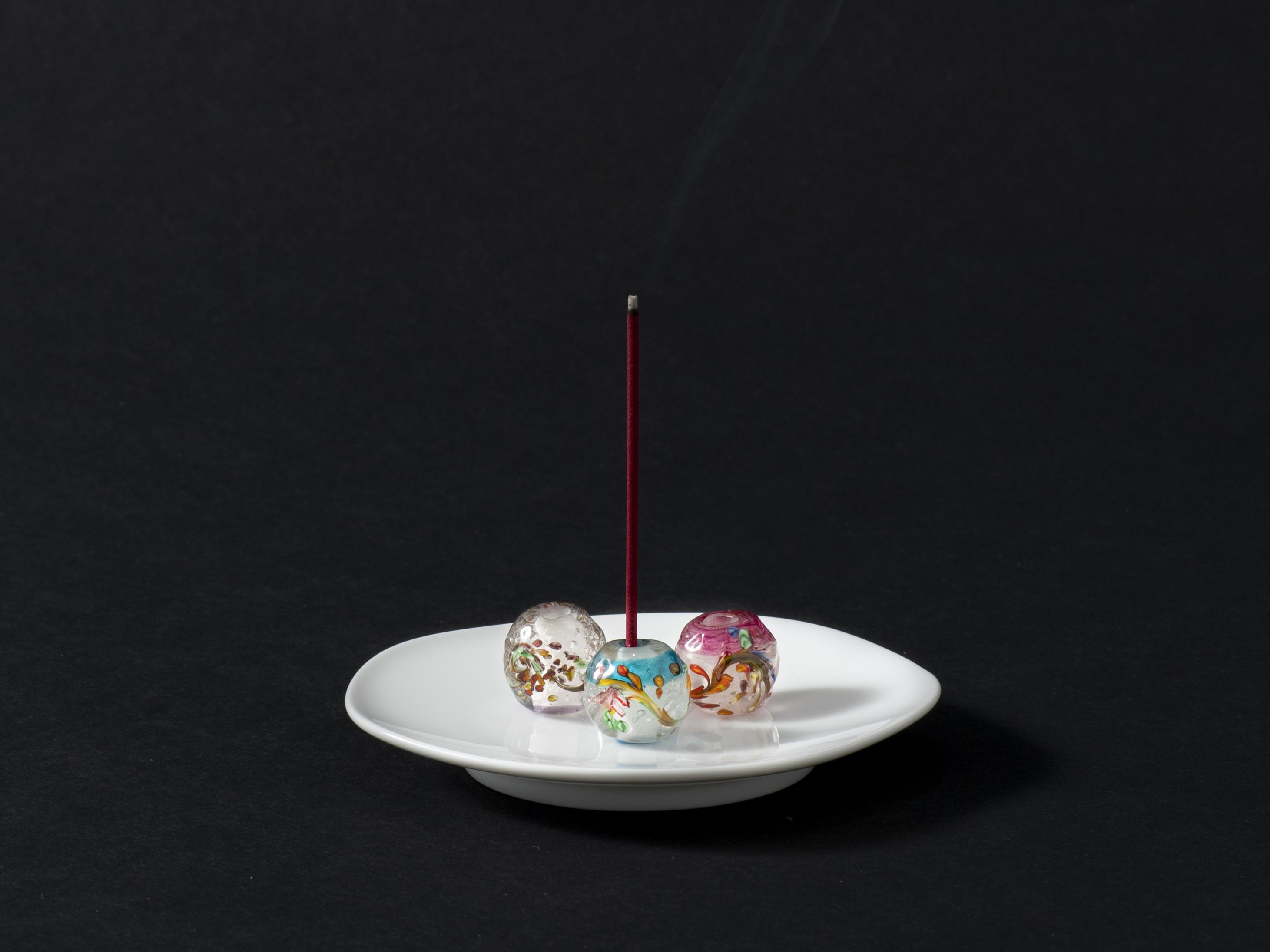 和泉蜻蛉玉 「千の時」 お香立て画像